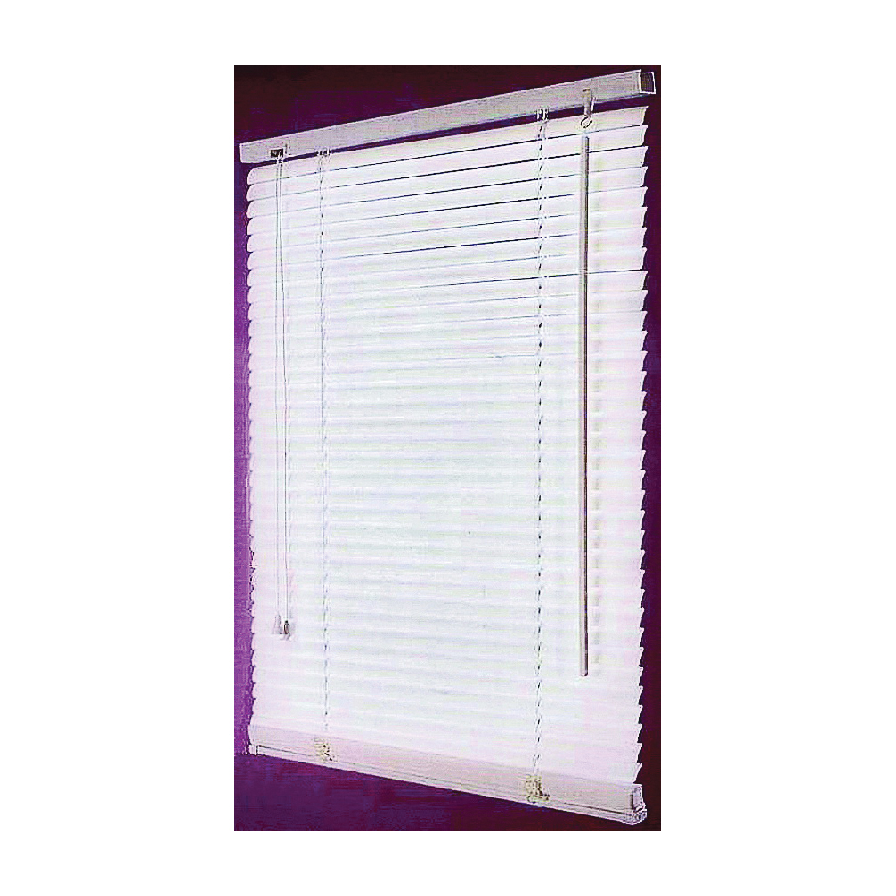Picture of Simple Spaces FWB-47X64-3L Window Blinds, 64 in L, 47 in W, Faux Wood, White