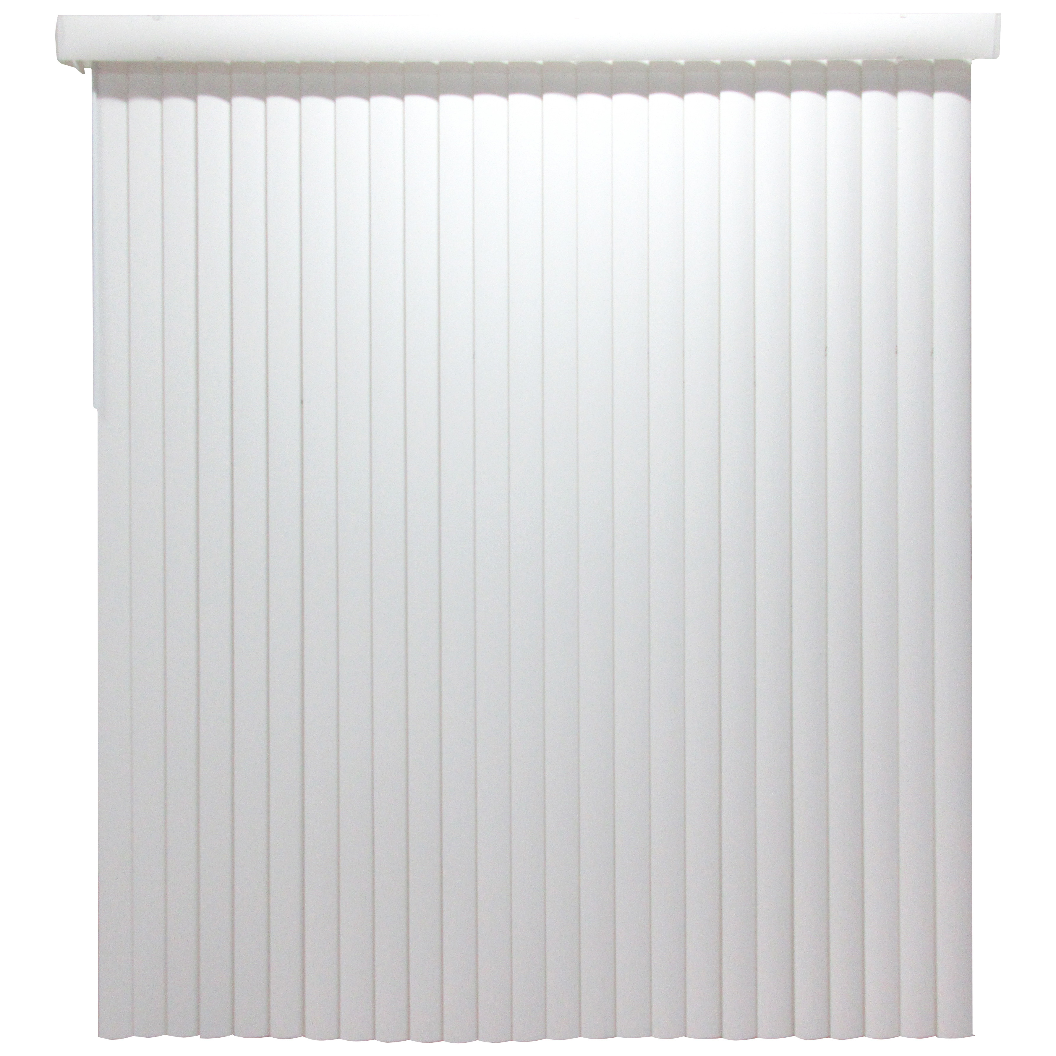 Picture of Simple Spaces MBV-78X84-V3L Window Blinds, 84 in L, 78 in W, Vinyl, White