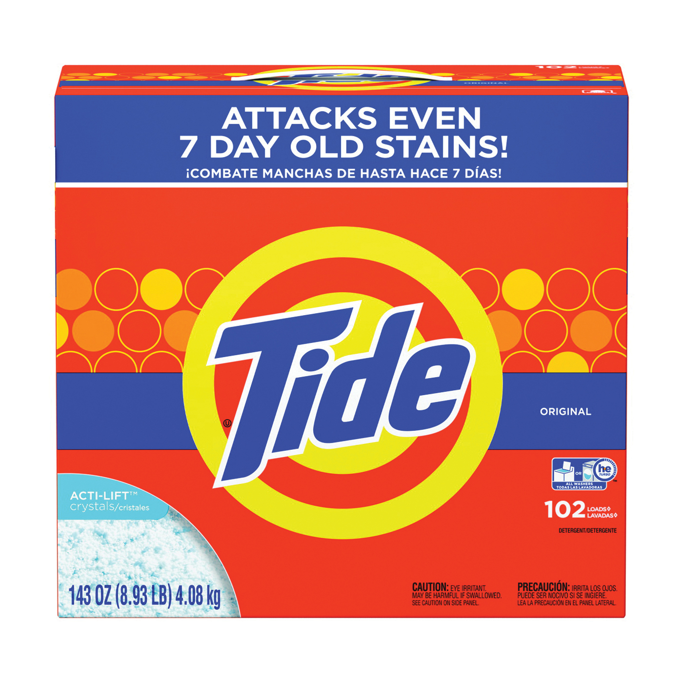 Picture of Tide 85006 Laundry Detergent, 8 lb, Box, Powder, Original