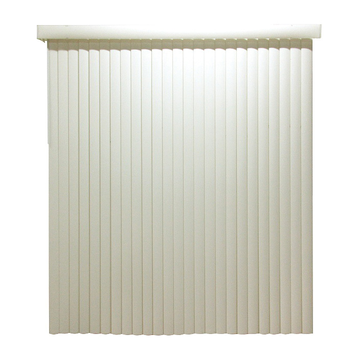 Picture of Simple Spaces MBV-78X84-VA3L Window Blinds, 84 in L, 78 in W, Vinyl, Alabaster