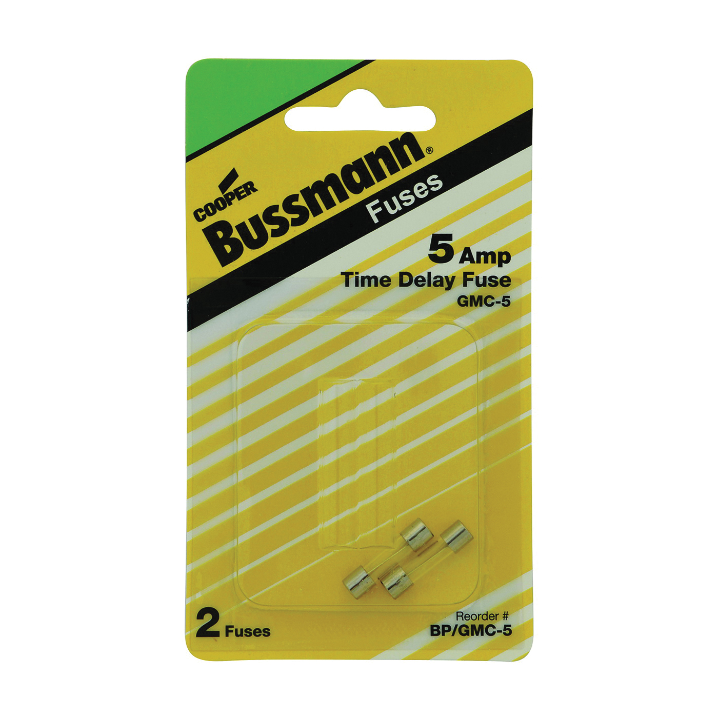 Picture of Bussmann BP/GMC-5 Time-Delay Fuse, 5 A, 125 V, 10 kA Interrupt, Glass Body