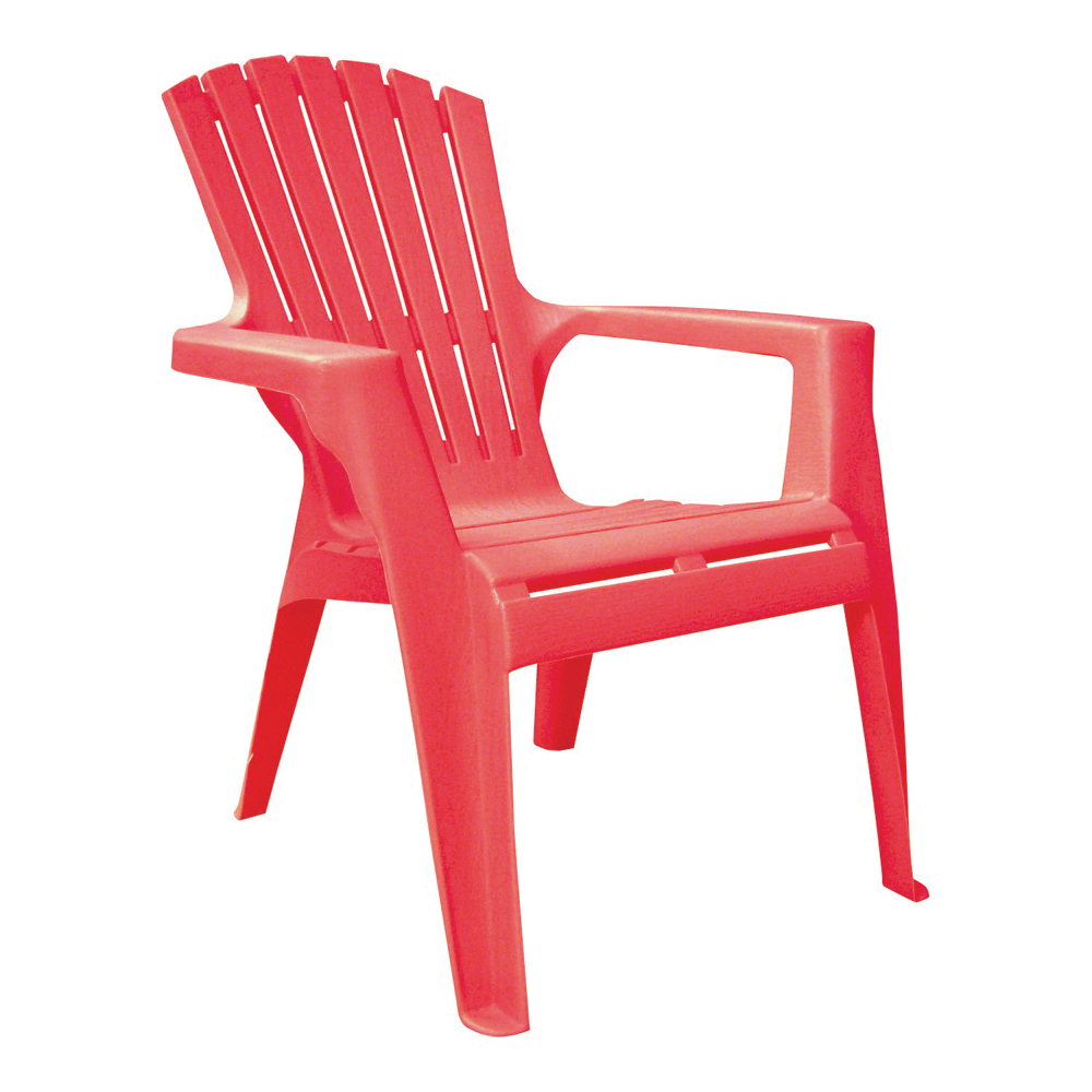 Picture of Adams 8460-26-3731 Kids Adirondack Chair, 18-1/4 in W, 23 in D, 23-3/4 in H, Polypropylene Frame, Cherry Red Frame