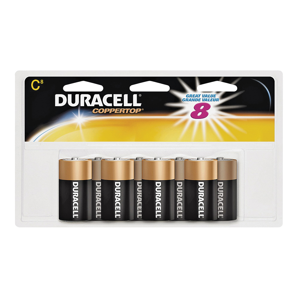 Picture of DURACELL MN14R8DWZ17 Alkaline Battery, 1.5 V Battery, C Battery, Manganese Dioxide, 8/PK