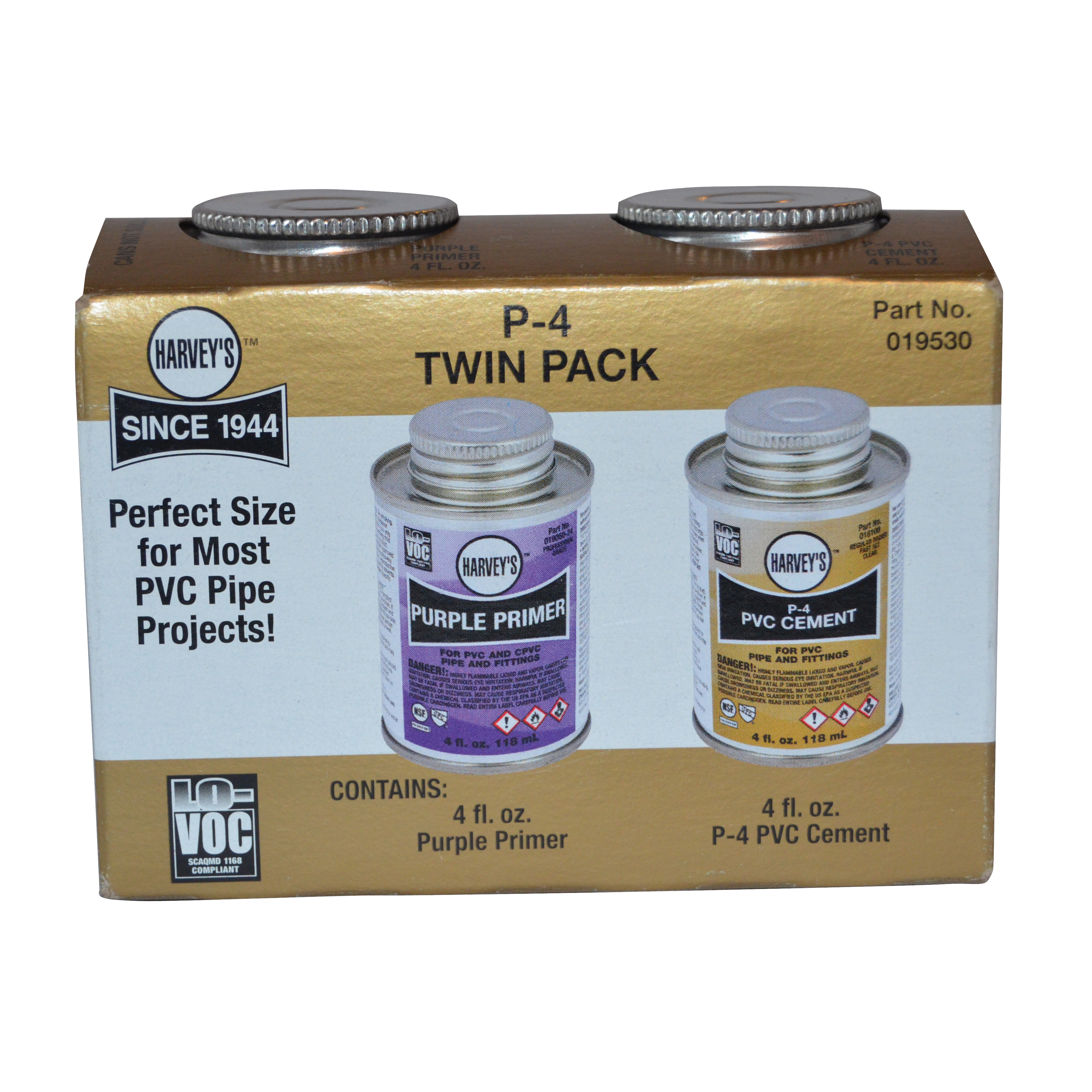 Picture of HARVEY 019530 Cement/Primer Pack, Purple, 4 oz Package, Box