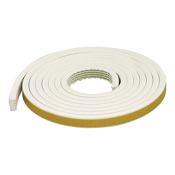 Picture of M-D 63669 Weatherstrip Tape, 19/32 in W, 10 ft L, EPDM Rubber, White
