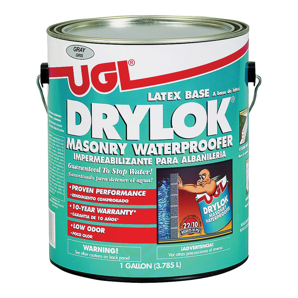 Picture of UGL DRYLOK 27613 Masonry Waterproofer, Gray, Liquid, 1 gal Package, Pail