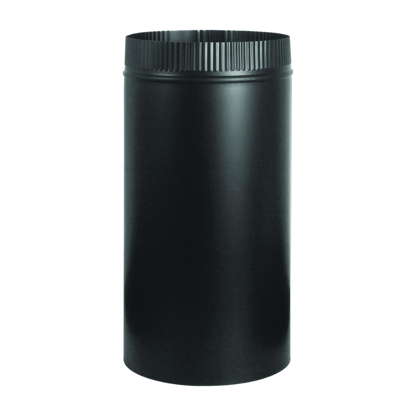 Picture of Imperial BM0103 Stove Pipe, 7 in Dia, 12 in L, Steel, Black