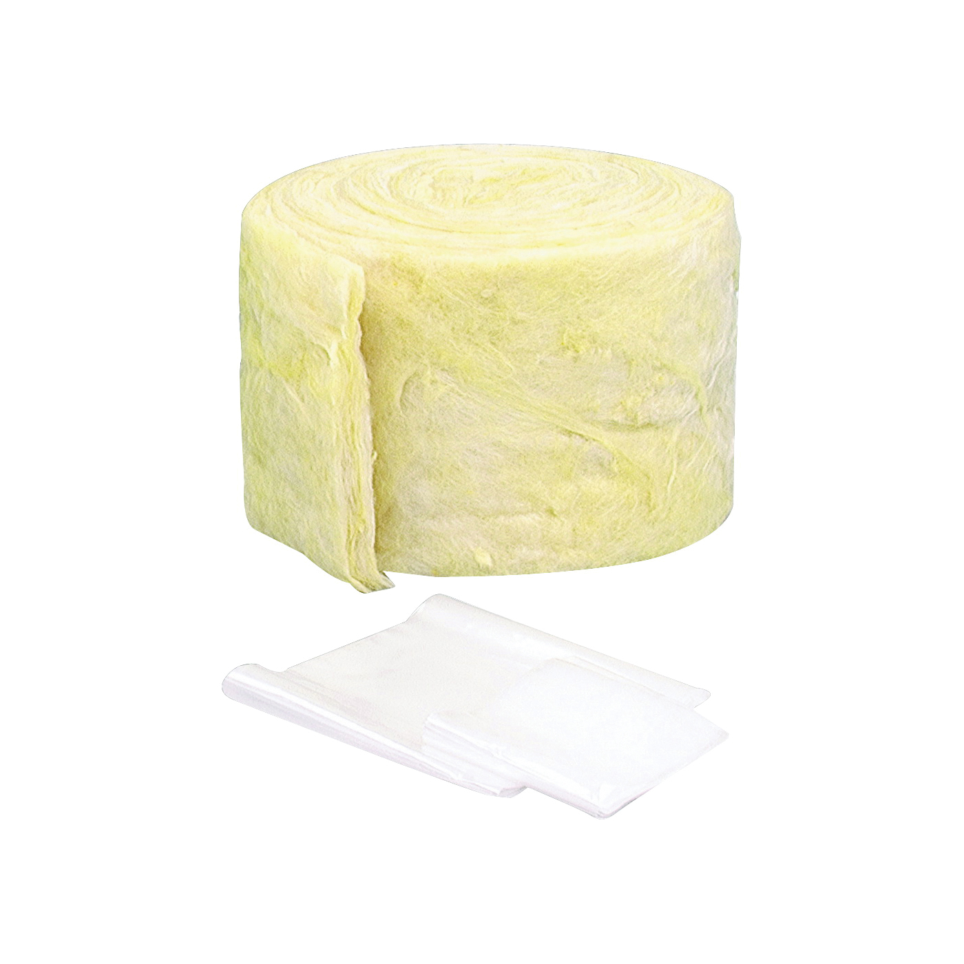 Picture of M-D 04937 Pipe Insulation Wrap, 25 ft L, 1/2 in Thick, Fiberglass, Yellow
