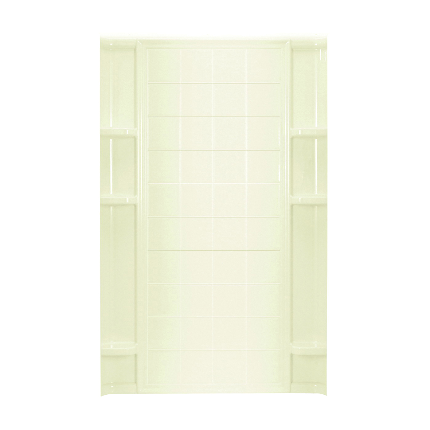 Picture of Sterling Ensemble 72122100-96 Shower Back Wall, 48 in W, Vikrell, Biscuit, High-Gloss
