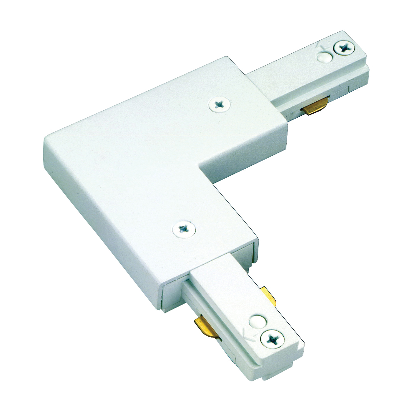 Picture of Eaton Lighting LZR203P Track Light L-Connector, White, For: Lazer Track Lamp holders and Halo Power-Trac Lamp holders