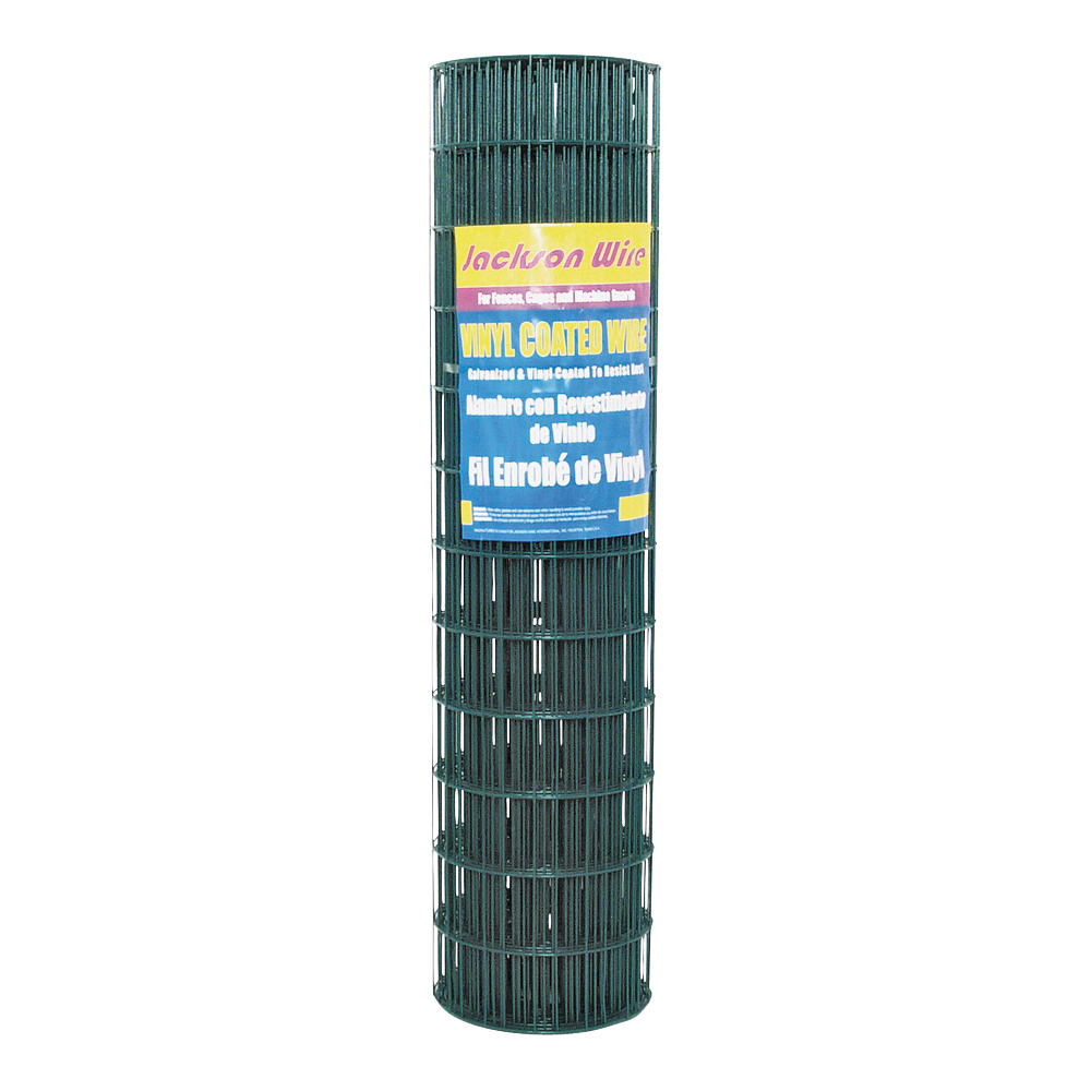 Picture of Jackson Wire 10 14 25 30 Welded Garden Fence, 50 ft L, 36 in H, 2 x 3 in Mesh, 16 Gauge, Green, Galvanized