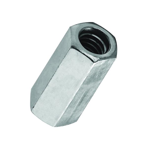 Picture of Stanley Hardware 4003 Series 182667 Coupling Nut, UNC Thread, 1/4-20 in Thread, Steel, Zinc