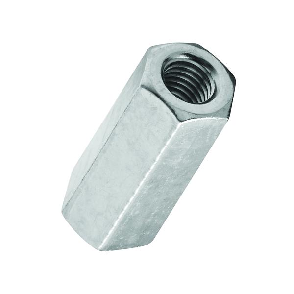 Picture of Stanley Hardware 4003 Series 182683 Coupling Nut, UNC Thread, 3/8-16 in Thread, Steel, Zinc