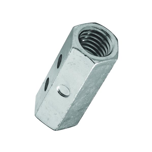 Picture of Stanley Hardware 4003 Series 182717 Coupling Nut, UNC Thread, 5/8-11 in Thread, Steel, Zinc