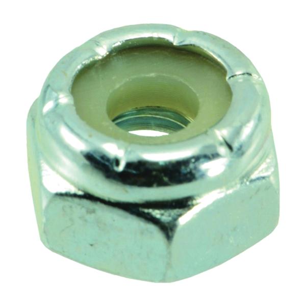 Picture of MIDWEST FASTENER 03648 Hex Locknut, Coarse Thread, #10-24 Thread, Nylon, Zinc