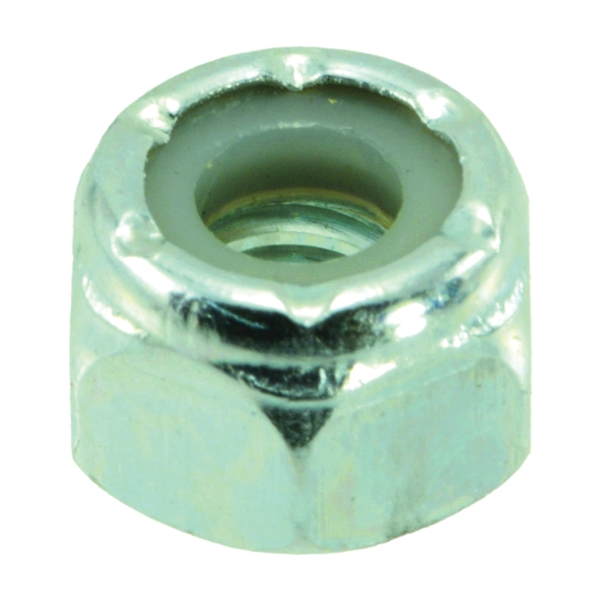 Picture of MIDWEST FASTENER 03649 Hex Locknut, Coarse Thread, 1/4-20 in Thread, Nylon, Zinc