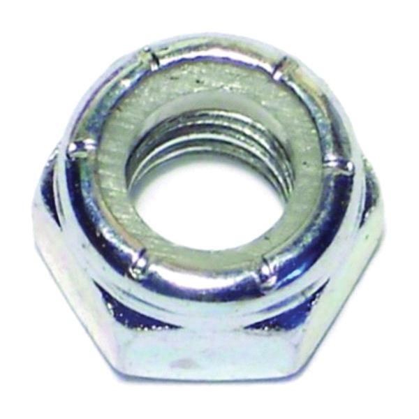 Picture of MIDWEST FASTENER 03650 Hex Locknut, Coarse Thread, 5/16-18 in Thread, Nylon, Zinc