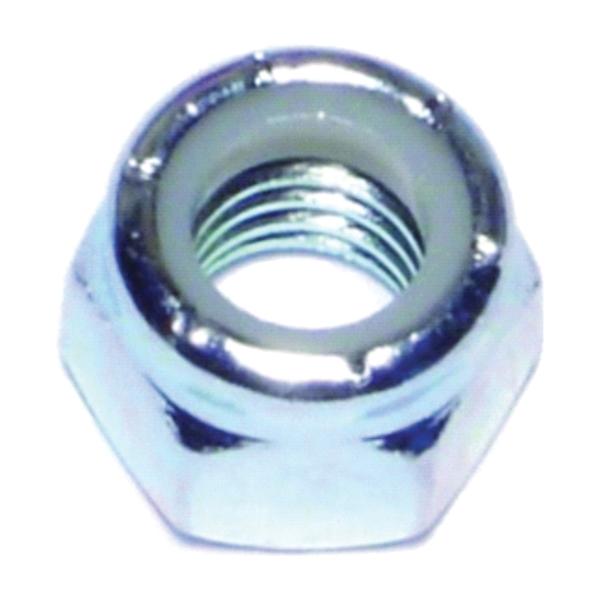 Picture of MIDWEST FASTENER 03651 Hex Locknut, Coarse Thread, 3/8-16 in Thread, Nylon, Zinc