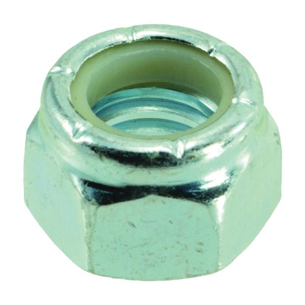 Picture of MIDWEST FASTENER 03652 Hex Locknut, Coarse Thread, 7/16-14 in Thread, Nylon, Zinc