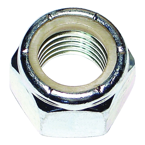 Picture of MIDWEST FASTENER 03656 Hex Locknut, Coarse Thread, 3/4-10 in Thread, Nylon, Zinc
