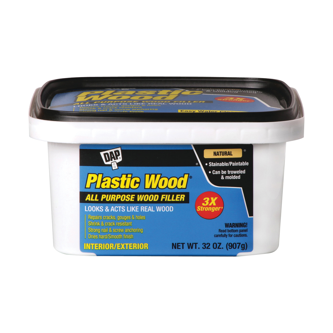 Picture of DAP Plastic Wood 00525 Wood Filler, Paste, Musty, Natural, 32 oz Package