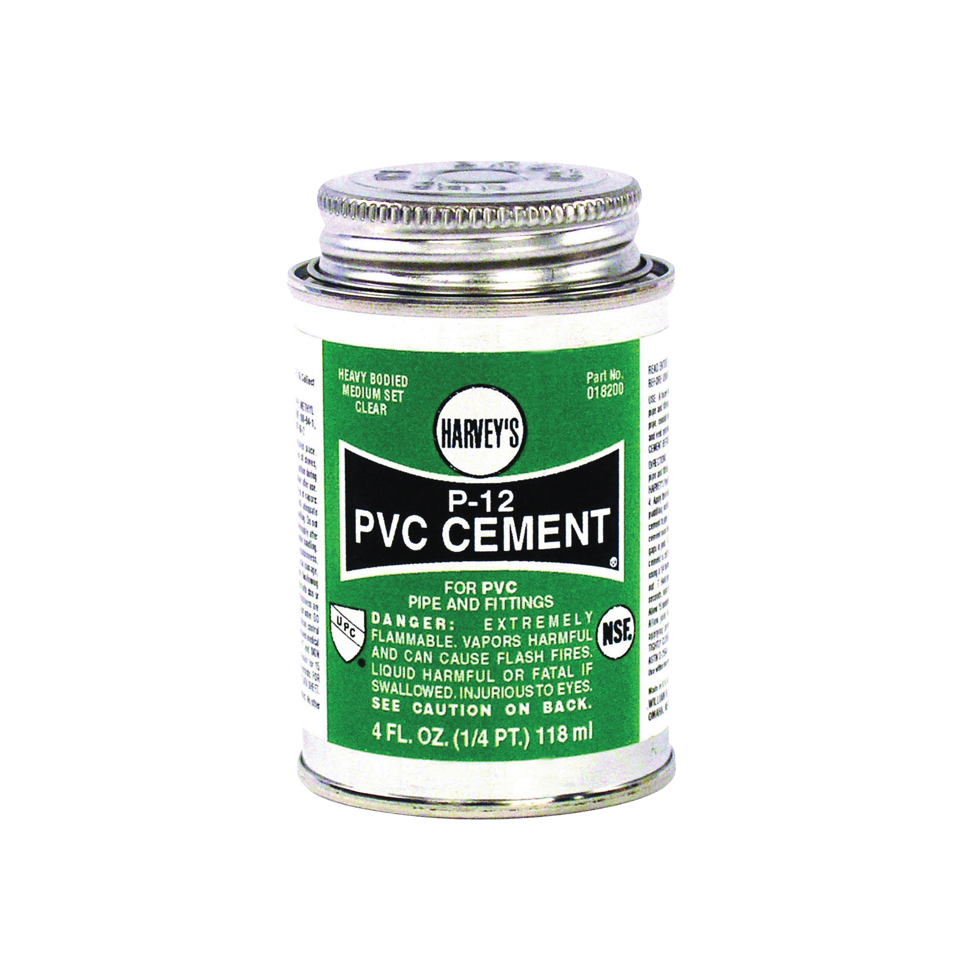 Picture of HARVEY 018200-24 Solvent Cement, 4 oz, Can, Liquid, Clear