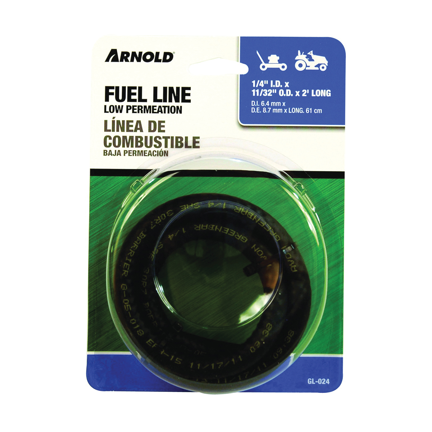 Picture of ARNOLD GL-024 Fuel Line, Low Permeation, Black, For: Walk Behind Mowers and Lawn Tractors