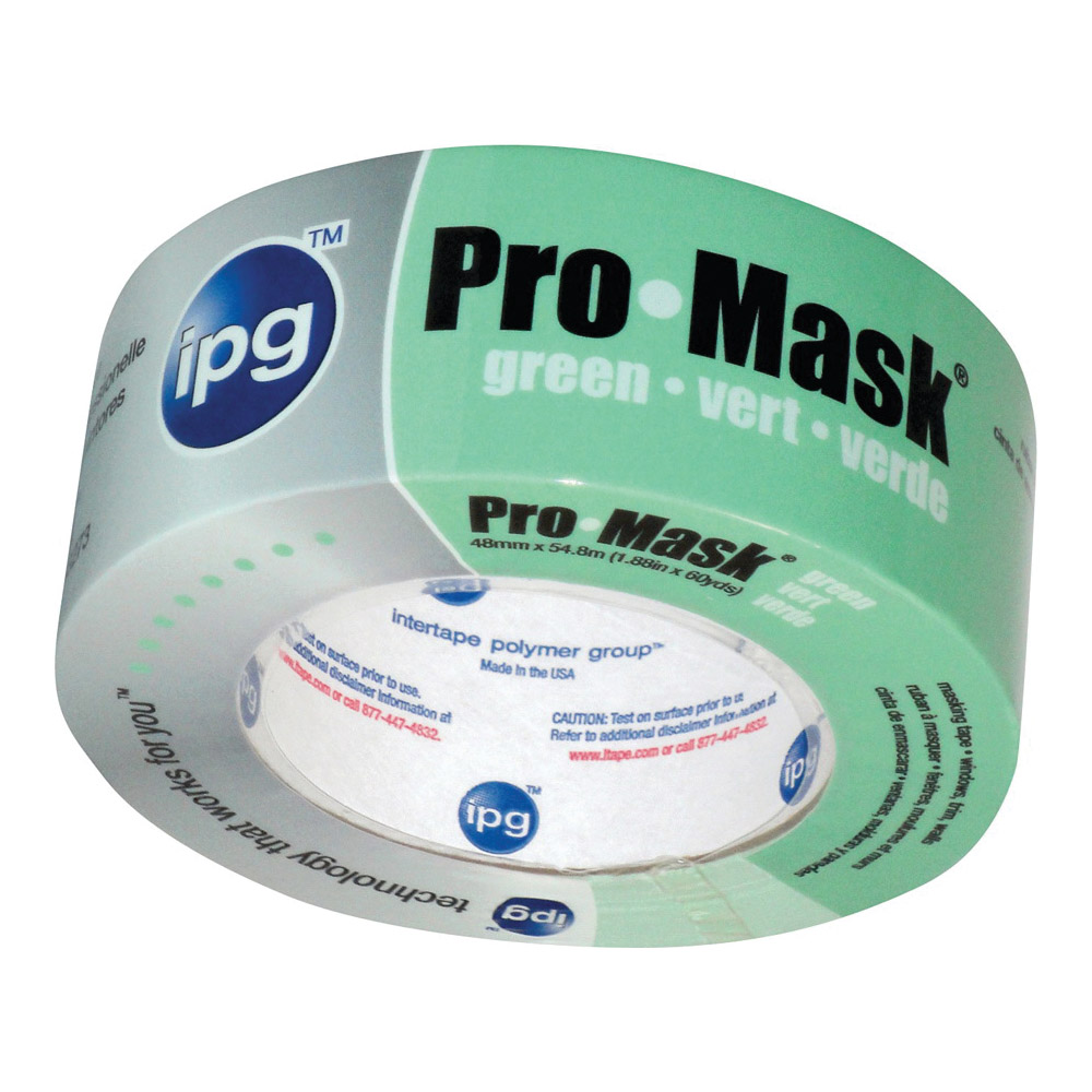 Picture of IPG 5805-2 Masking Tape, 60 yd L, 1.87 in W, Crepe Paper Backing, Light Green