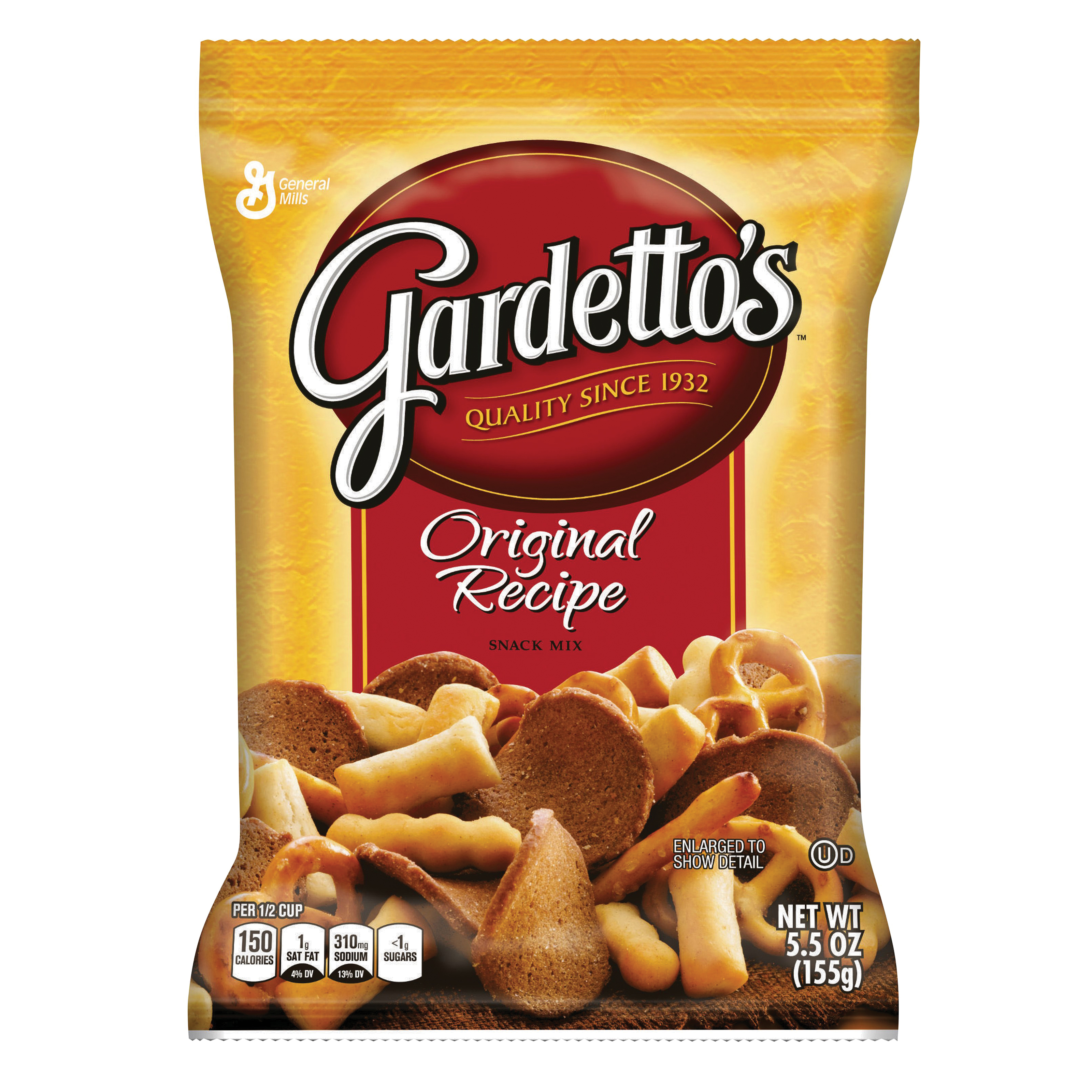 Picture of Gardetto's GARD7 Snack Food, Original Flavor, 5.5 oz Package
