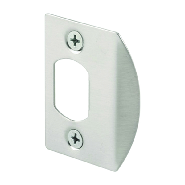 Picture of Defender Security E 2456 Latch Strike, 2-1/4 in L, 1-7/16 in W, Steel, Satin Nickel
