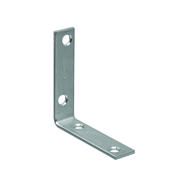 Picture of National Hardware 115BC Series N266-338 Corner Brace, 2-1/2 in L, 5/8 in W, Steel, Zinc, 0.1 Thick Material