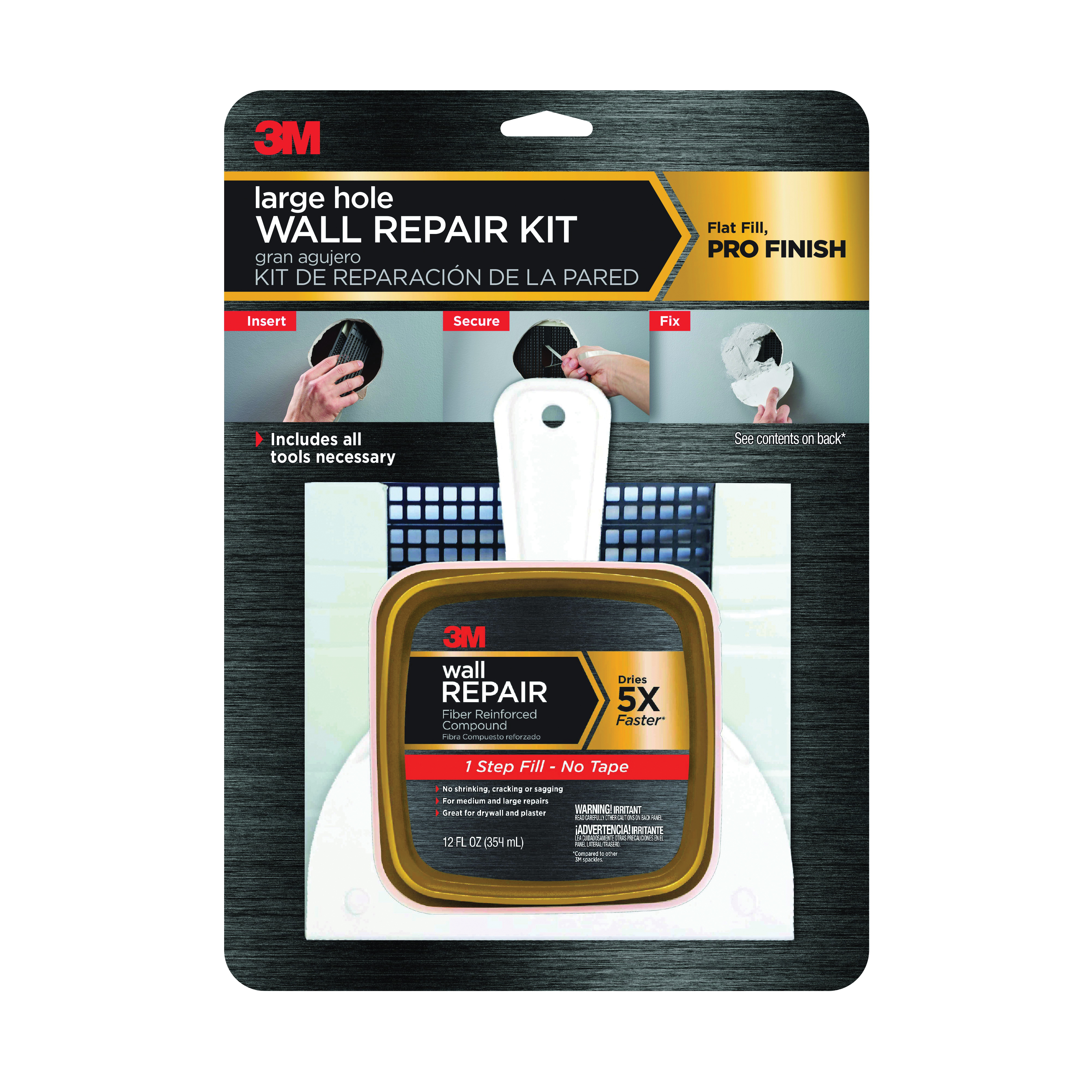 Picture of 3M LHR-KIT Wall Repair Kit, 12 fl-oz Package
