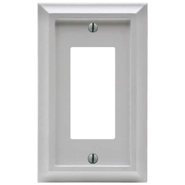 Picture of Amerelle Deerfield 2040RW Wallplate, 1-Gang, Wood, White