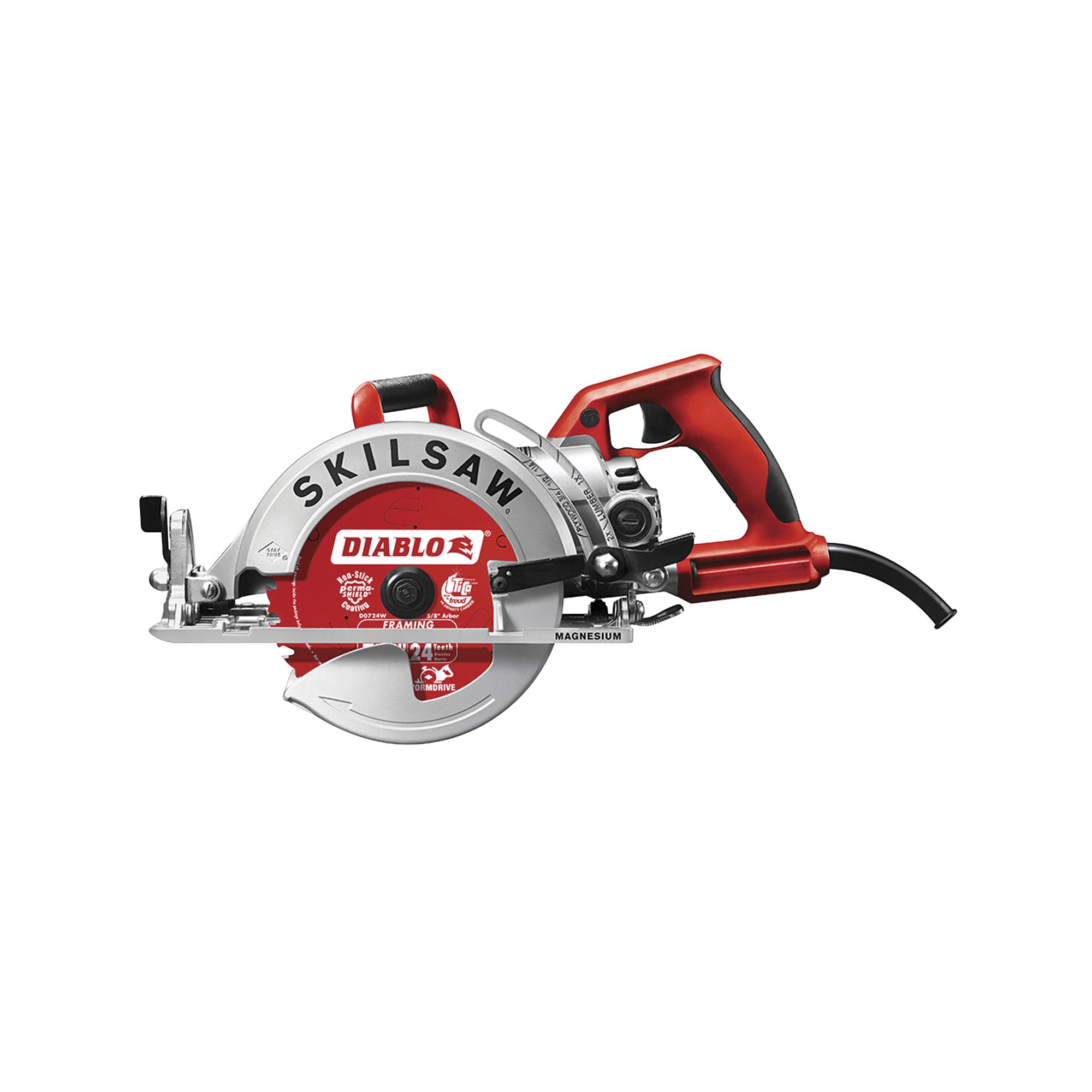 Picture of SKIL SPT77WML-22 Circular Saw, 120 V, 15 A, 1800 W, 7-1/4 in Dia Blade, 13/16 in Arbor, 53 deg Bevel