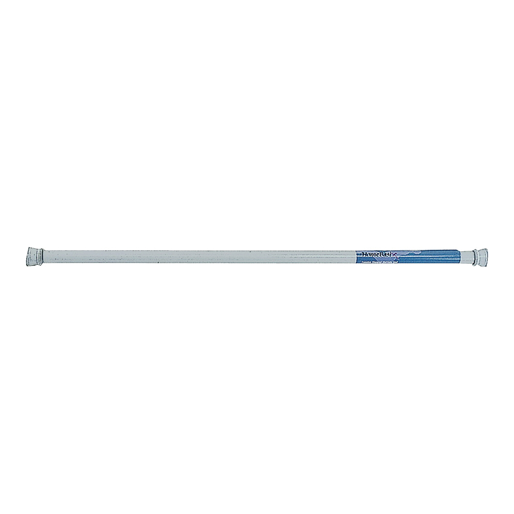 Picture of Simple Spaces SD-SR41-W3L Shower Curtain Rod, 7-1/2 lb, 41 to 76 in L Adjustable, 1 in Dia Rod, Steel