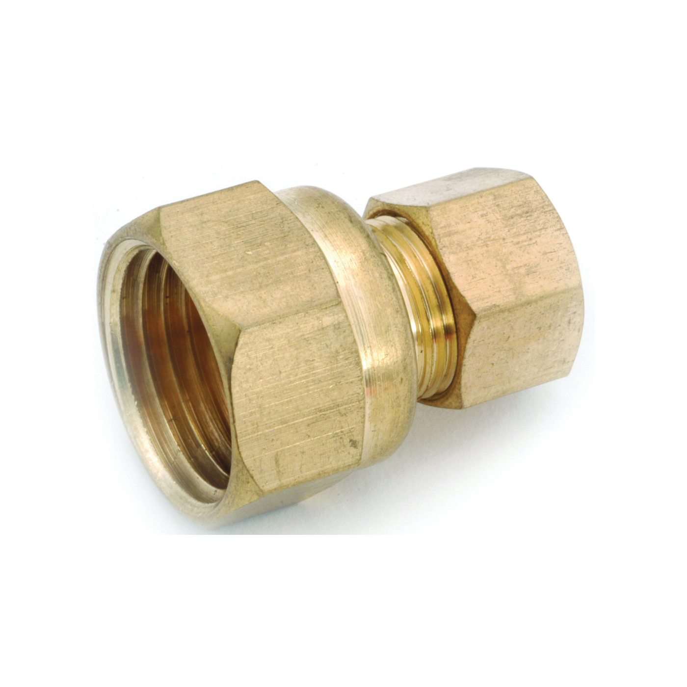Picture of Anderson Metals 750097-0806 Tube Adapter, 1/2 x 3/8 in, Compression, Brass
