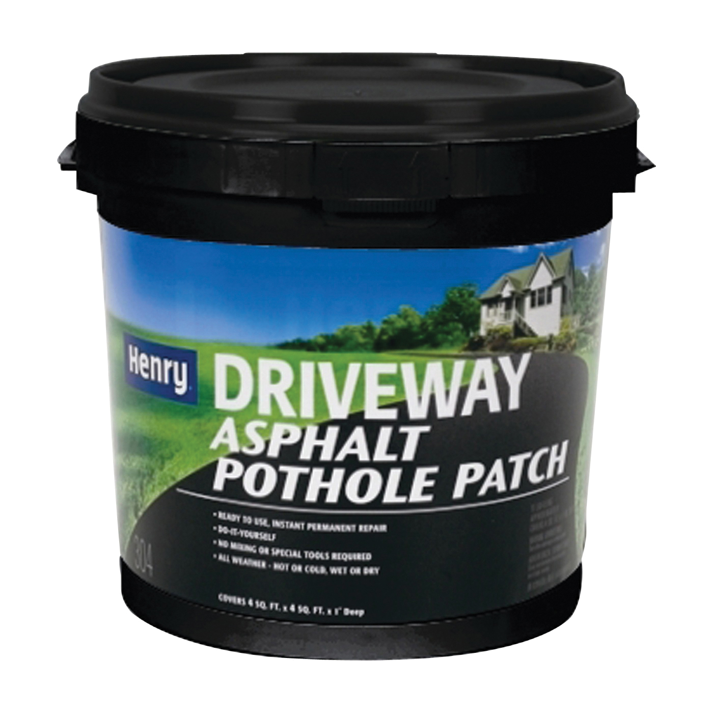 Picture of Henry HE304 Series HE304044 Pothole Patch, Solid, Black, Petroleum Distillates, 1 gal Package, Jug