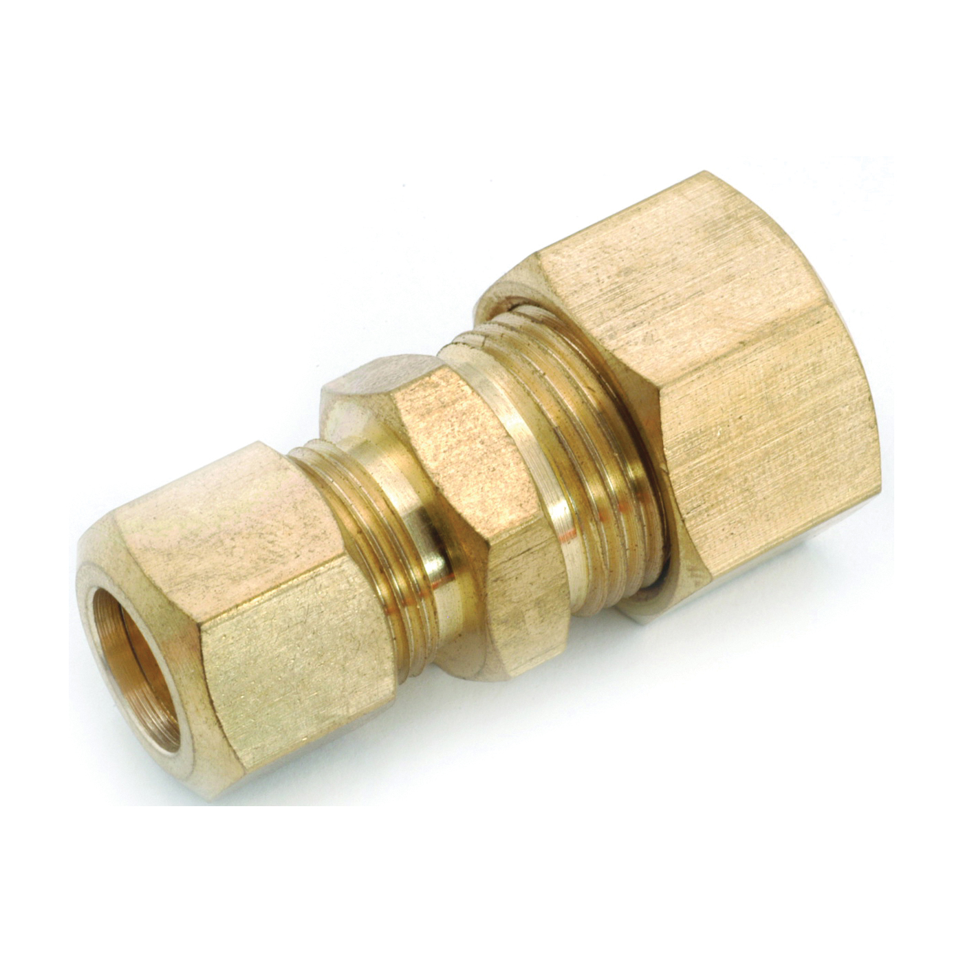 Picture of Anderson Metals 750082-0806 Tube Reducing Union, 1/2 x 3/8 in, Compression, Brass