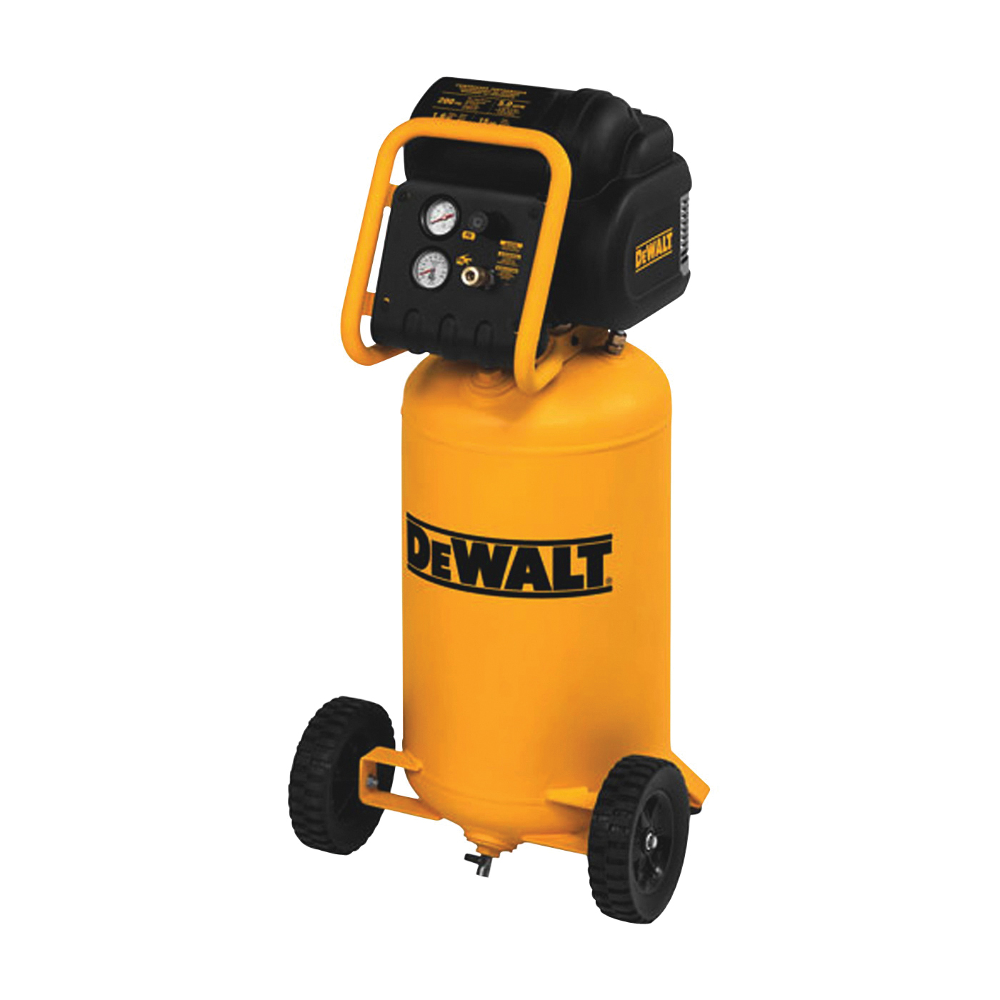 Picture of DeWALT D55168 Portable Workshop Air Compressor, 15 gal Tank, 1.6 hp, 120 V, 200 psi Pressure, 5 cfm Air