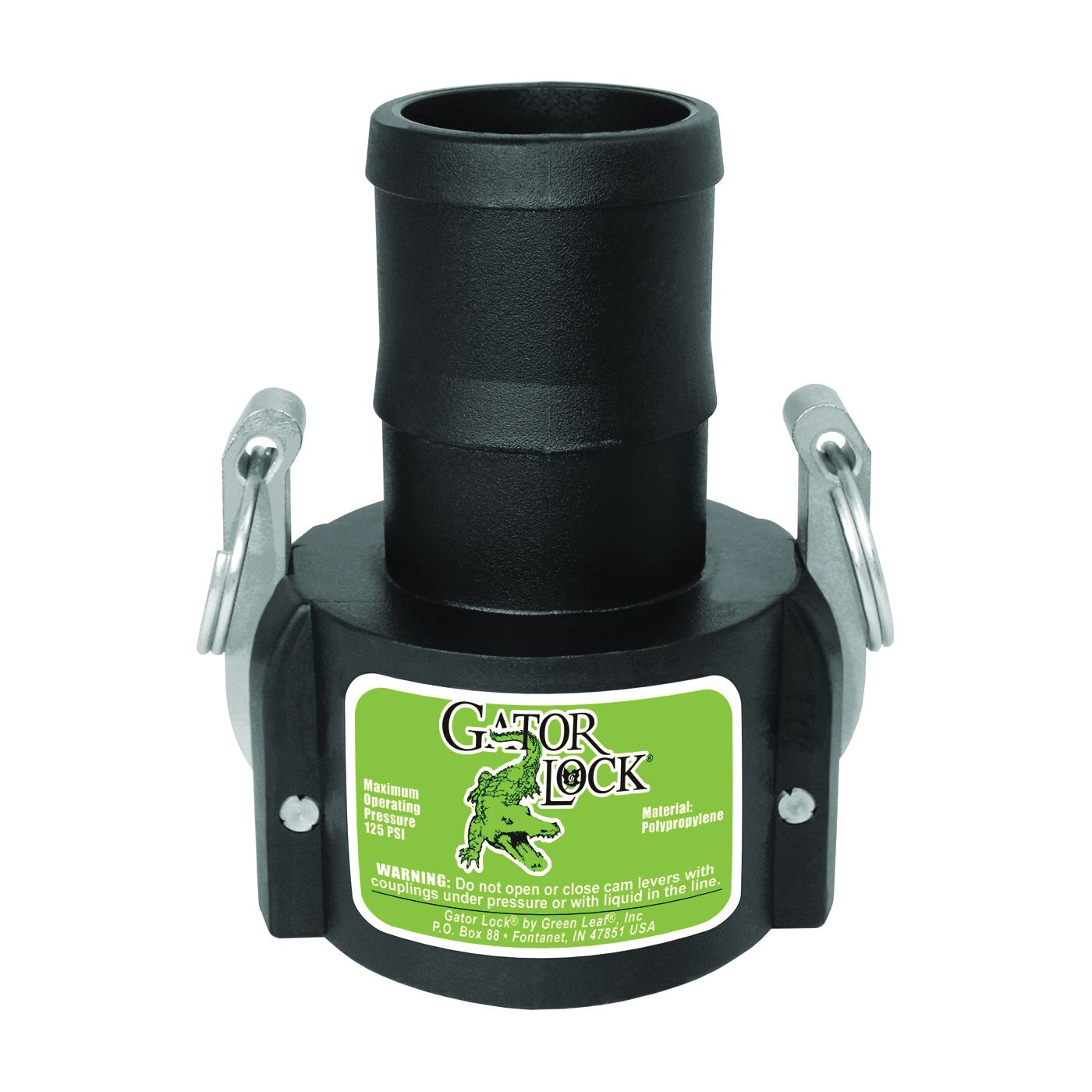 Picture of GREEN LEAF GLP200CNL Cam Lever Coupling, 2 in, Female x Hose Barb, Glass Filled Polypropylene