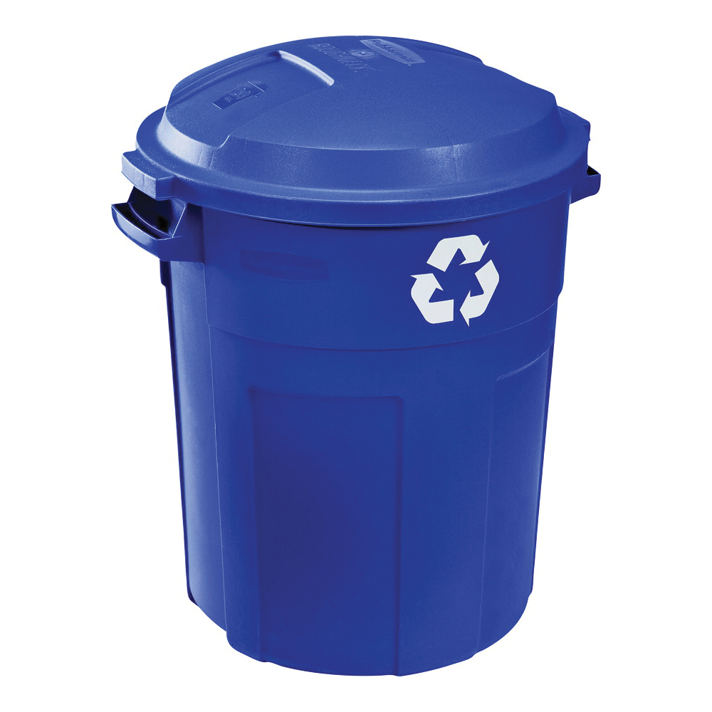 Picture of Rubbermaid 1792641 Recycle Trash Can, 32 gal Capacity, Plastic, Blue