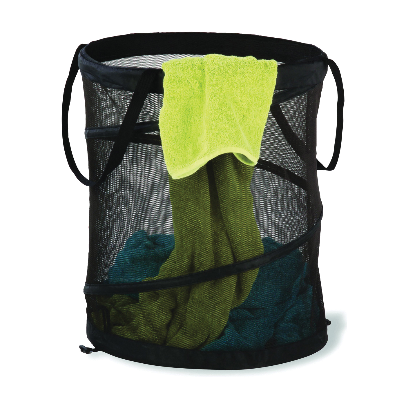 Picture of Honey-Can-Do HMP-01127 Large Mesh Pop-Up Hamper, 18-1/2 in W, 23.6 in H, 18-1/2 in D