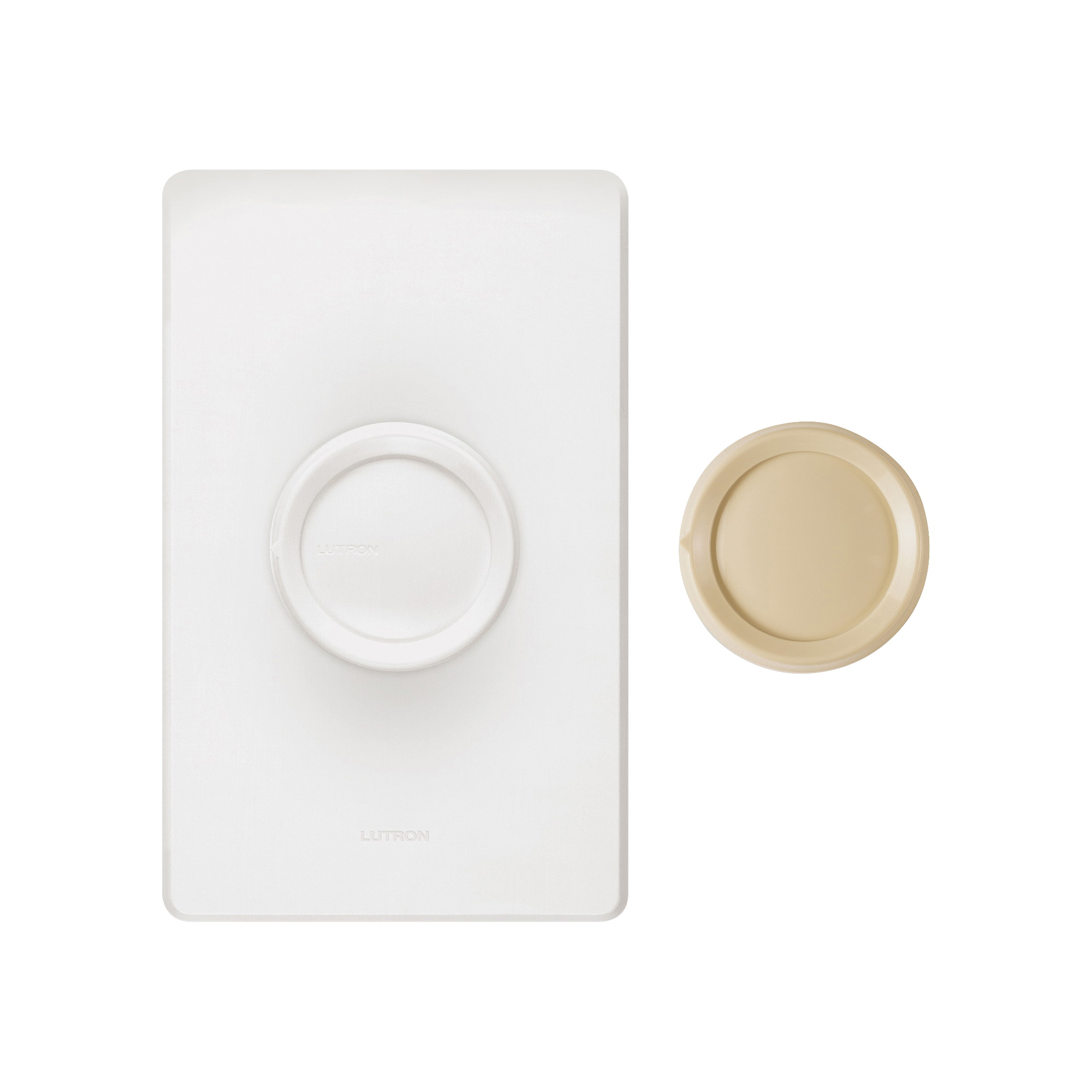 Picture of Lutron DNG-600PH-DK Rotary Dimmer, 120 V, 600 W, Halogen, Incandescent Lamp, Ivory/White