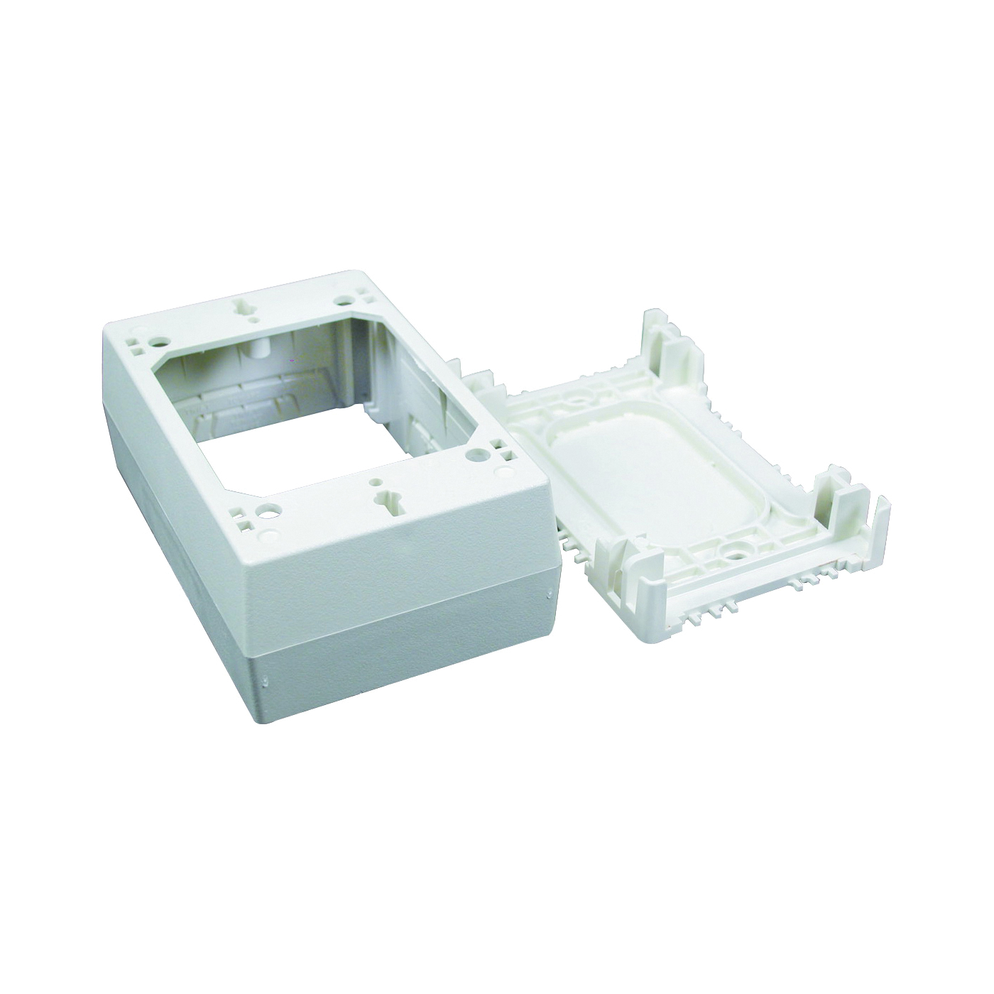 Picture of Legrand Wiremold NM Series NM35 Outlet Box, 0-Knockout, Plastic, Ivory, Wall Mounting