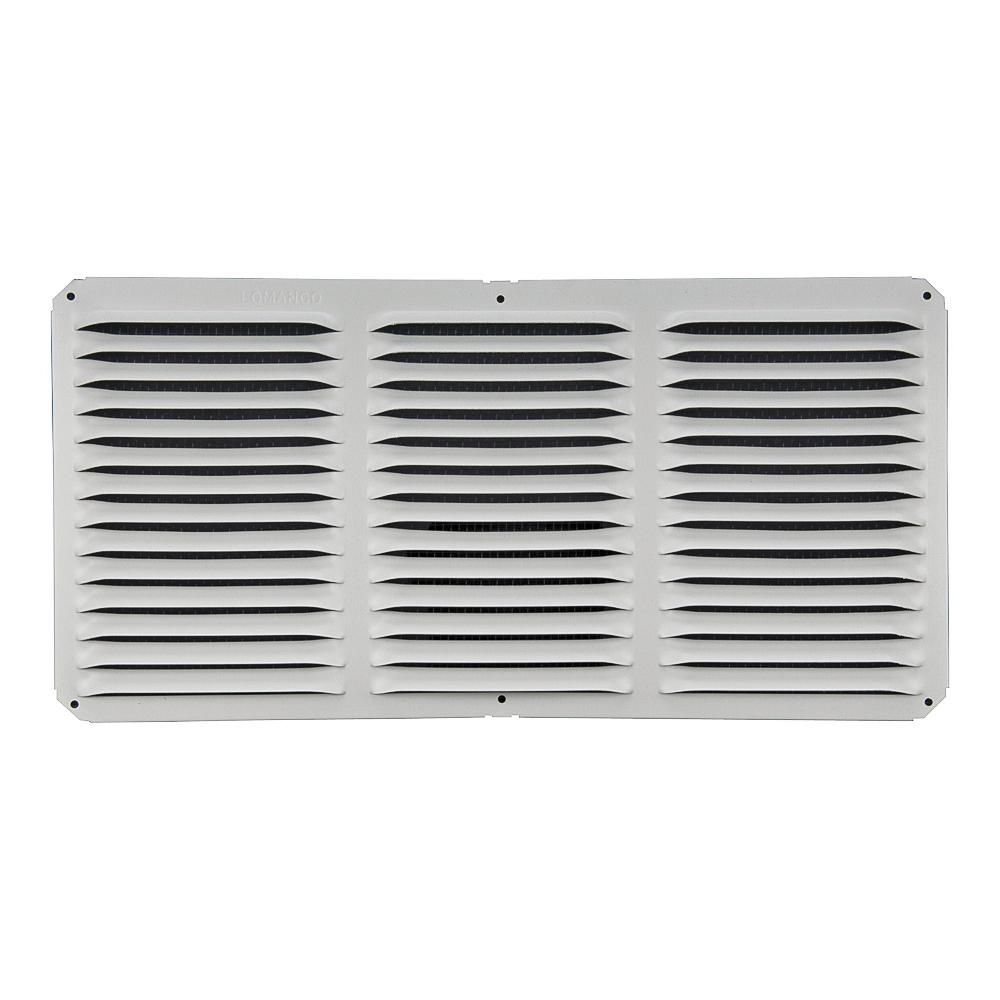 Picture of LOMANCO LomanCool C816W Cornice Vent, 8 in L, 16 in W, 65 sq-ft Net Free Ventilating Area, Aluminum, White