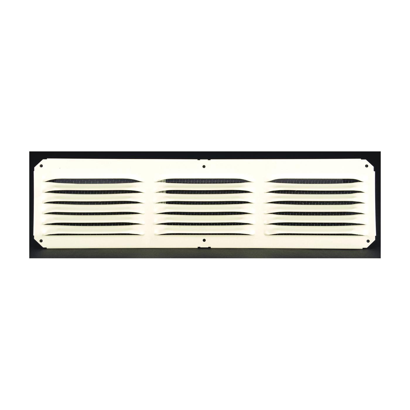 Picture of LOMANCO LomanCool C416W Cornice Vent, 4 in L, 16 in W, 25 sq-ft Net Free Ventilating Area, Aluminum, White