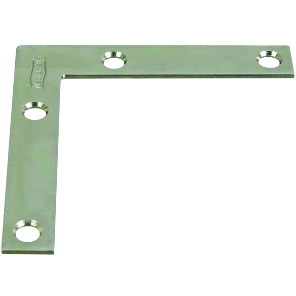 Picture of National Hardware 117BC Series N266-528 Corner Brace, 3 in L, 1/2 in W, 3 in H, Steel, Zinc, 0.07 Thick Material