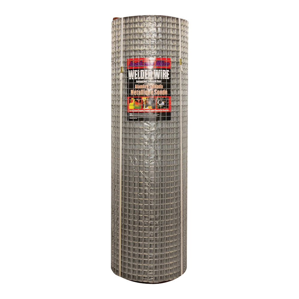 Picture of Jackson Wire 10 03 39 14 Welded Wire Fence, 100 ft L, 48 in H, 1 x 1 in Mesh, 14 Gauge, Galvanized