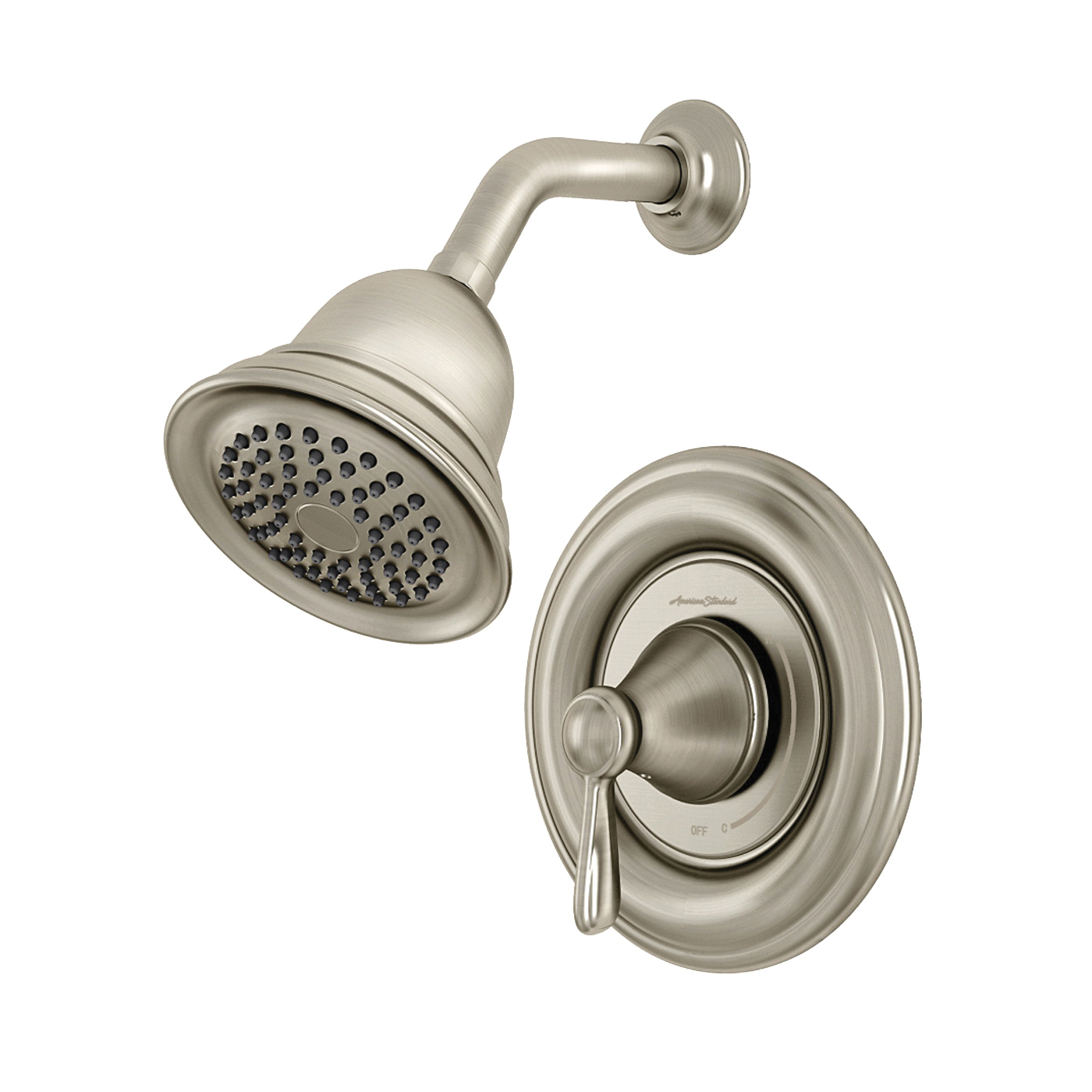 Picture of American Standard 7262S.295 Showerhead and Valve, 2 gpm, Brass, Brushed Nickel, Lever Handle