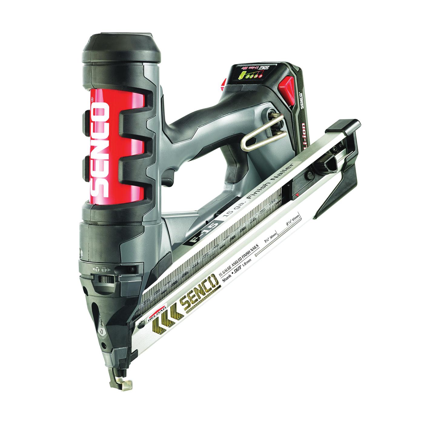 Picture of SENCO 5N0001N Nailer, Kit, 18 V Battery, 1 Ah, 110 Magazine, 34 deg Collation, Paper Tape Collation, 15 ga Nail